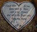 Heart shape granite plaque
