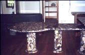 "Dinning Table ""Golden Mosaic"""